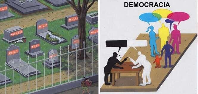 Ilustrações que lhe farão refletir sobre a sociedade moderna