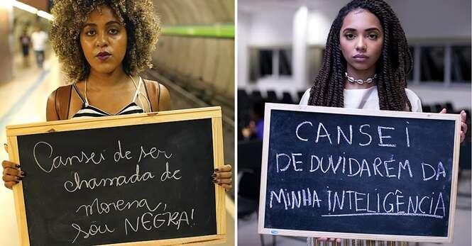 Projeto retrata mulheres negras e as coisas que elas cansaram de escutar