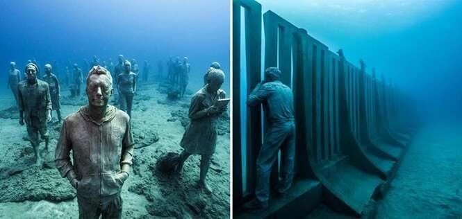 Fotos de um impressionante museu que fica inteiramente debaixo d'água