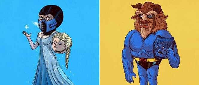 Imagens revelando quem está por trás de famosos personagens