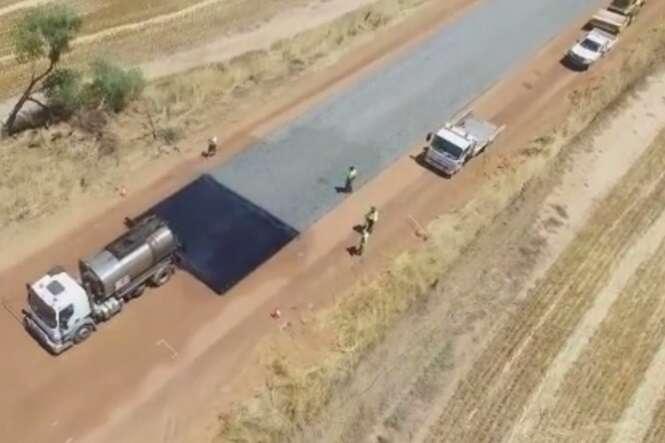 Vídeo mostrando pavimentação de estrada na Austrália vai te hipnotizar