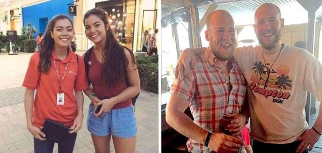 Pessoas que parecem gêmeas, mas que não são nem parentes