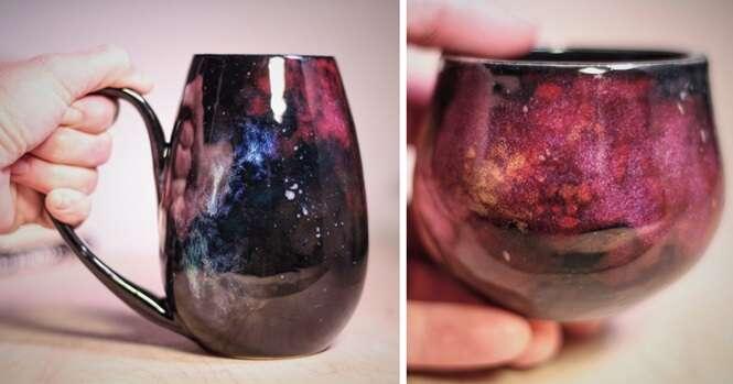 Objetos de cerâmica inspirados na galáxia