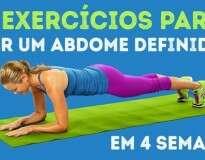 4 exercícios para você conquistar um abdômen definido em menos de um mês