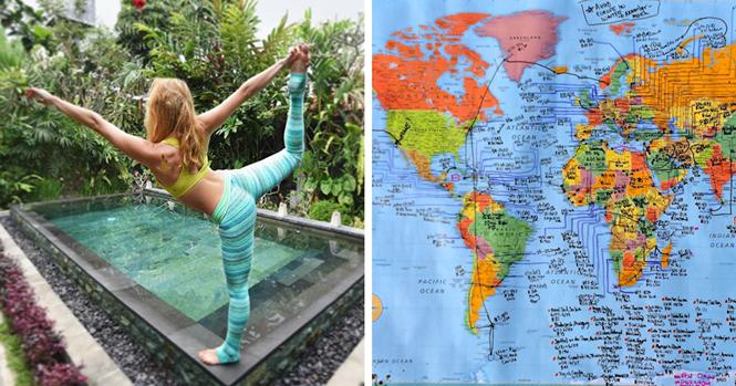 Aos 27 anos, esta jovem se tornou a primeira mulher a visitar todos os países do planeta