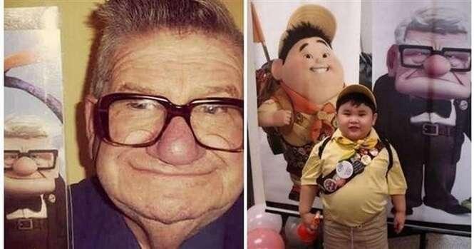 Pessoas que se parecem com personagens de desenho animado