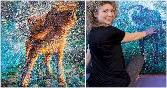 Esta artista provou que pintar com os dedos não é coisa só para crianças