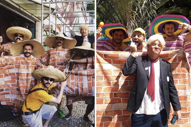 """Aparentemente, o """"Muro do Trump"""" é uma das candidatas a melhor fantasia do Carnaval 2017"""