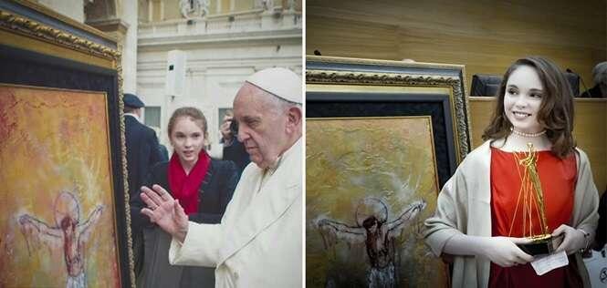 Garota de 14 anos é celebridade no mundo da arte e já se tornou milionária