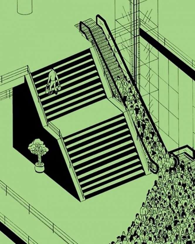 Ilustrações que revelam o lado sombrio da sociedade moderna