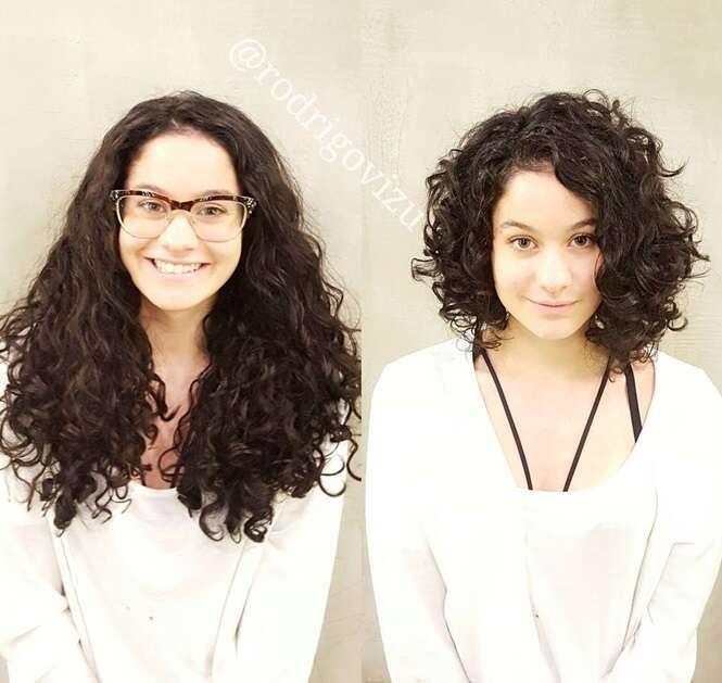 Antes e depois que vão te fazer querer mudar o cabelo imediatamente