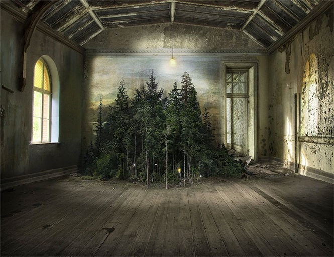 Esta artista usou uma técnica de 110 anos para criar fotomontagens surreais
