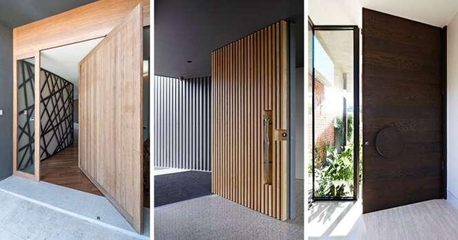 Portas de madeira com designs sofisticados que darão à sua casa uma calorosa recepção