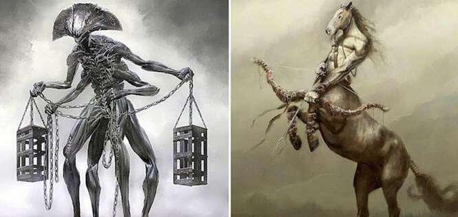 Como seriam os signos do zodíaco se fossem monstros