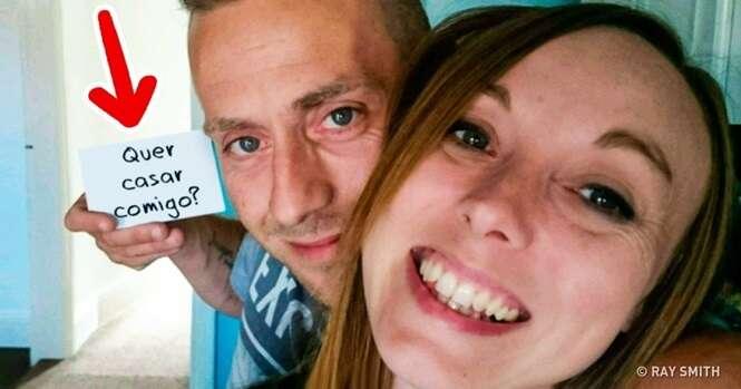 """Este homem escondeu a frase """"Quer casar comigo?"""" em 148 fotos sem que sua namorada suspeitasse de nada"""