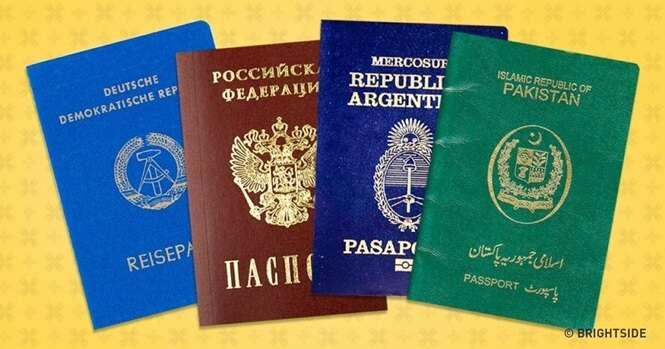 Há somente 4 cores de passaporte no mundo, e esta é a razão