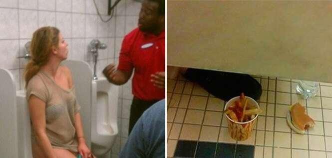 Momentos inesquecíveis ocorridos em banheiros