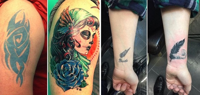 Pessoas que conseguiram salvar a própria pele após se arrependerem da tatuagem que fizeram
