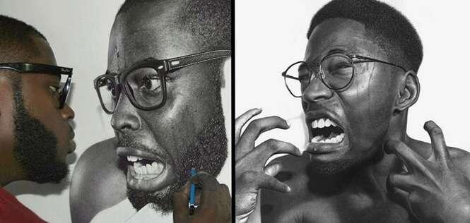 Retratos a lápis que você vai jurar que vão sair do papel