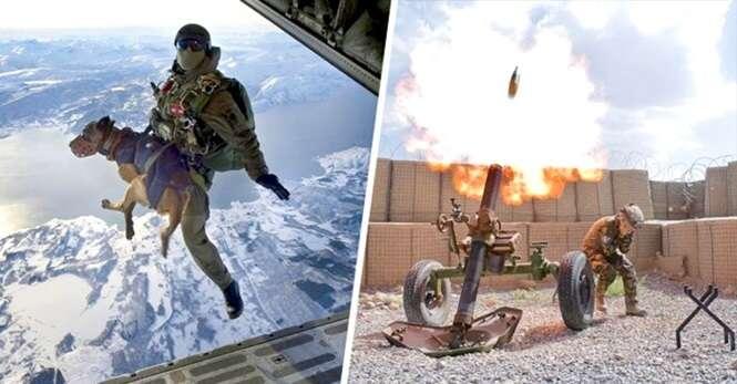 Imagens de militares registradas no momento perfeito