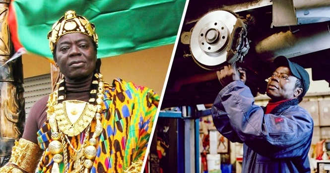Este rei africano se tornou mecânico na Alemanha