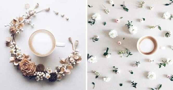 Artista cria lindo diário visual ao tomar café