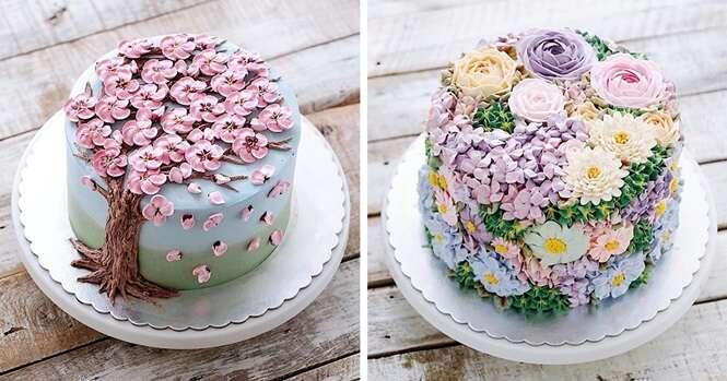 Lindos bolos inspirados na primavera