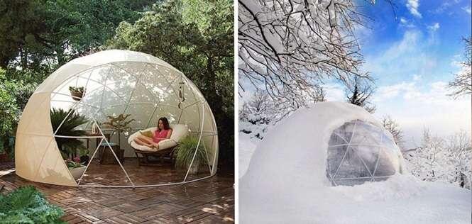 """Esta empresa cria """"iglus"""" para você colocar em seu jardim"""