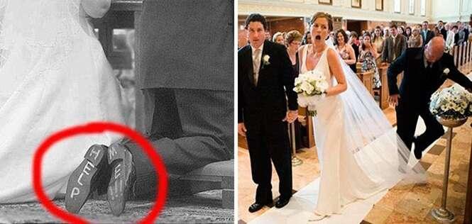 Fotos de momentos hilários ocorridos em casamentos