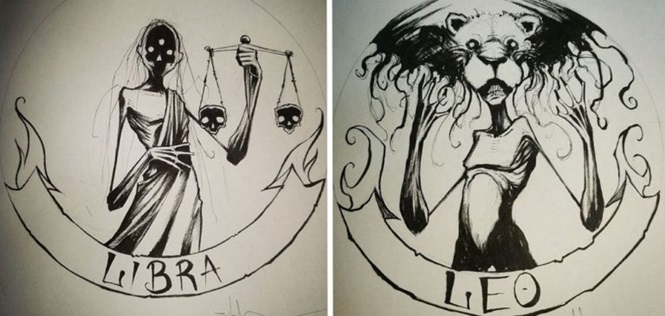 Os signos do zodíaco de um jeito assustador