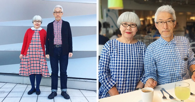 Juntos há 37 anos, este casal combina seus looks diariamente