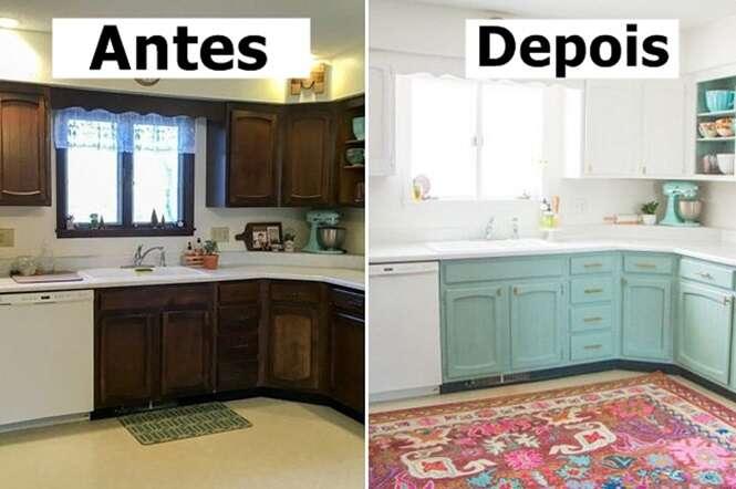 Ambientes antes e depois da reforma