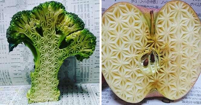 Artes incríveis feitas em comida por talentoso artista japonês