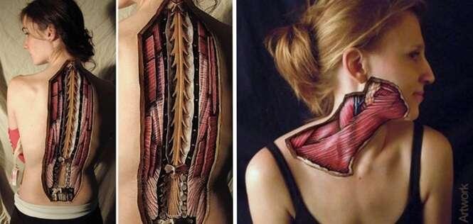 Pinturas incríveis revelando o que há debaixo da nossa pele
