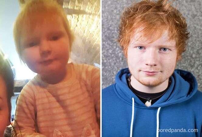 Bebês bastante parecidos com pessoas famosas