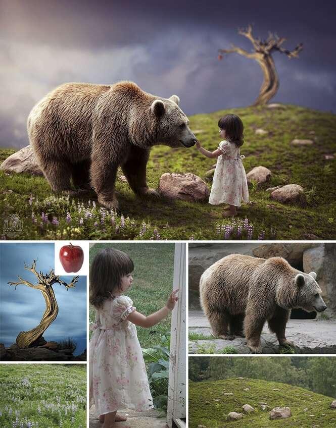 Imagens feitas por uma ucraniana que é conhecida como mestre do Photoshop