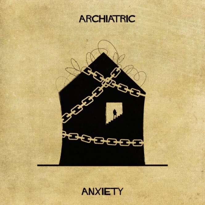 Doenças mentais representadas através de desenhos arquitetônicos