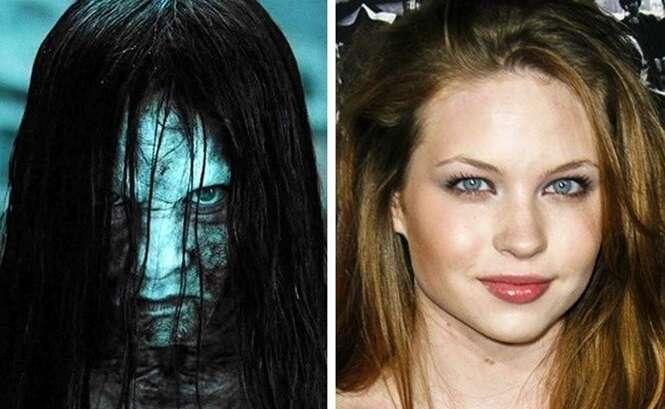 Imagens mostrando as caras por trás de famosos personagens de filmes de terror