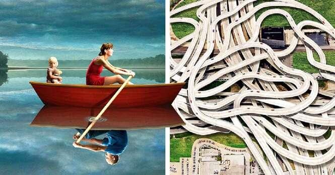 Ilustrações revelando o lado sombrio da sociedade moderna
