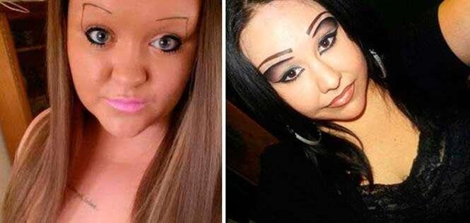 Mulheres que levaram bem a sério a personalização da sobrancelha