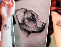15 tatuagens que quem é louco por cachorro vai querer fazer