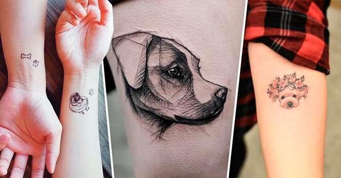 Tatuagens que quem é louco por cachorro vai querer fazer