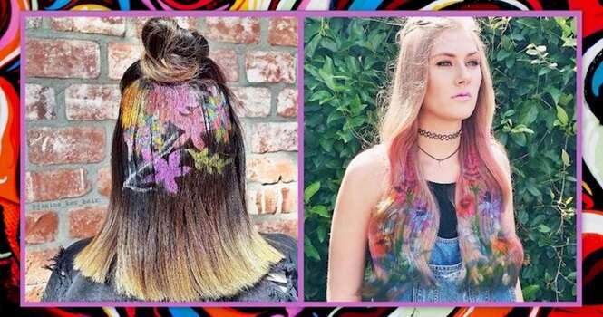 Graffiti inspira tendência para cabelos