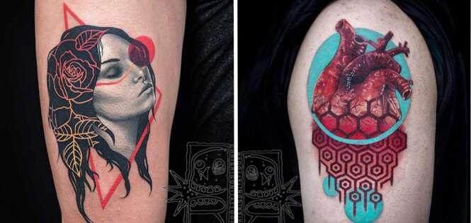 Tatuagens fantásticas que mais parecem trabalhos de colagem