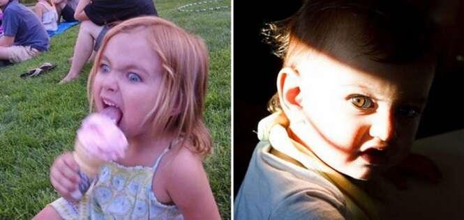 """Fotos """"assustadoras"""" de crianças"""