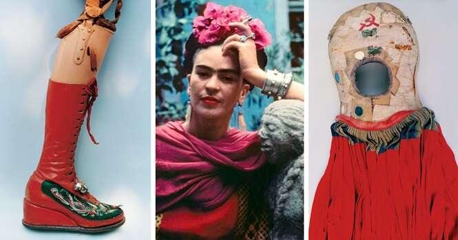 Veja itens do guarda-roupa de Frida Kahlo que ficaram escondidos por quase 50 anos
