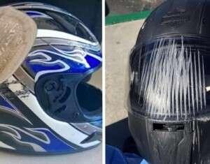 17 imagens provando que não devemos deixar de usar capacete quando for recomendado