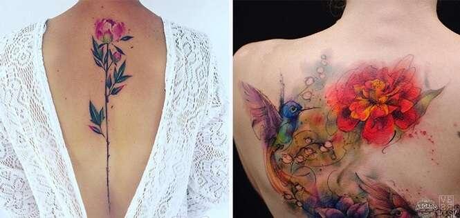 Tatuagens que imitam aquarela e que vão te inspirar