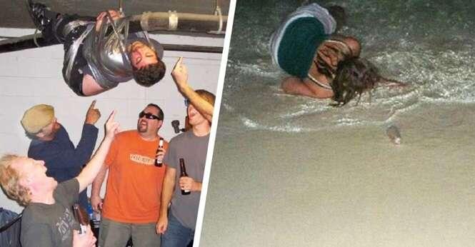 Imagens provando que álcool e amigos não são uma boa combinação