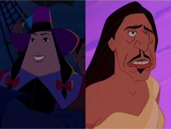 E se vilões e heróis da Disney tivessem seus rostos trocados?